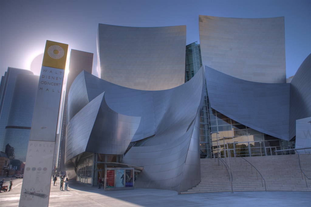 Disney Concert Hall and Sun