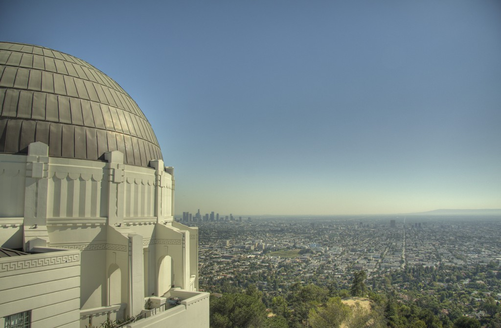Downtown LA and Planetarium Dome