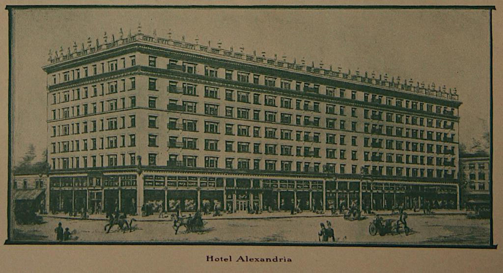 Hotel Alexandria : Los Angeles from an A