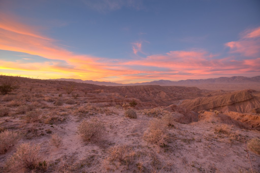 Illuminated Clouds in Anza Borrego