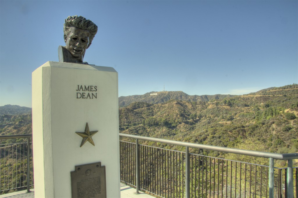 James Dean and Hollywood Sign