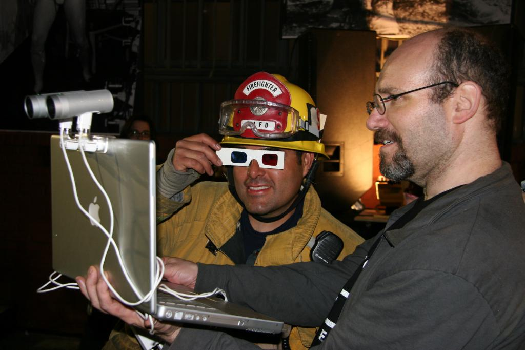 LAFD enjoying the show in 3D