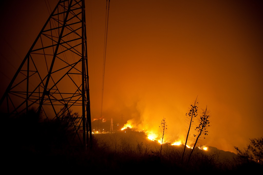Powerlines, Yucca and Station Fire