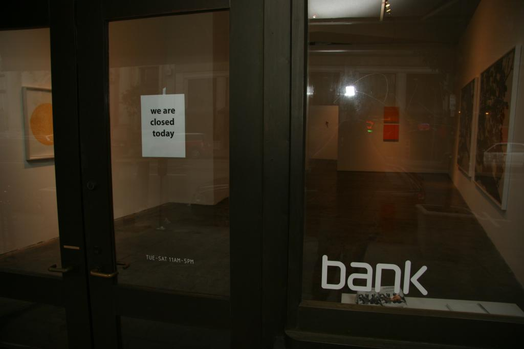 bank gallery was closed