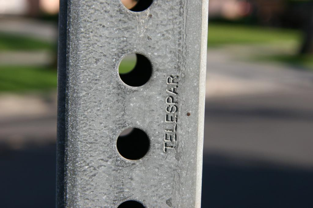 steel sign post